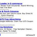 Adsense block on a niche website.