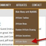 MyNAMS Affiliate Menu