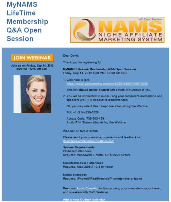 mynams lifetime q&a webinar registration