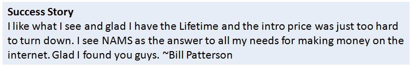 Bill PattersonSuccess