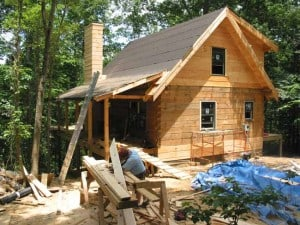 Building our Log Home in 2003