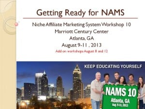 Getting Ready for NAMS 10